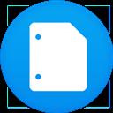 Circle, Docs, Flat, Google icon