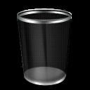 blank, empty, bin icon