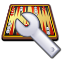 backgammon, spanner, engine icon