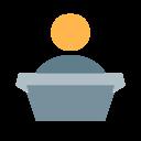 podium with speaker icon