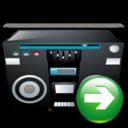 arrow, next, ok, right, forward, yes, tape, recoder, correct icon