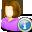 info, user, female icon
