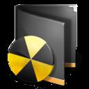 burn,folder,black icon