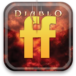 friendfeed, diablo icon