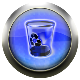 recycle, blue, empty, bin, blank icon