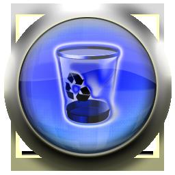 recycle, blue, empty, bin, blank icon