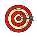 set, analysis, graphic, business, accuracy, strategy, target icon