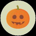 halloween, pumpkin, goofy icon