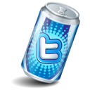 twitter, soda can icon