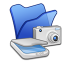 , &Amp, Blue, Cameras, Folder, Scanners icon