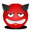 Devil sad icon