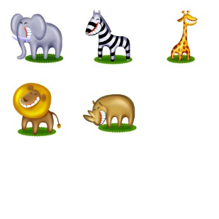 African Pets icon sets preview
