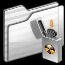 burnable,folder,white icon