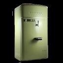 vintage fridge green icon