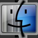 gray, blue, finder icon