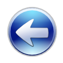 Arrow, Back, Blue, Circle, Go, Left, Prev, Previous icon
