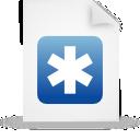 blue, paper, file, document icon
