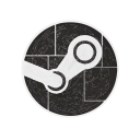 media, hexagon, steam, engine, social, games icon