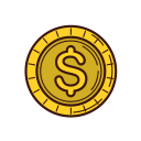 line, coin, currency, money, set, graphic, business icon