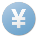 currency, yuan, blue icon
