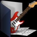 folder blue music icon