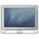 Cinema, Display, Front, Graphite, Old icon