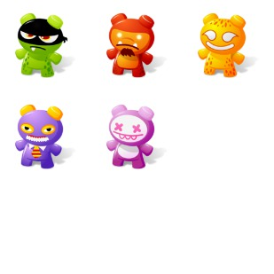 Art Toys 2 icon sets preview