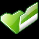 folder green open icon