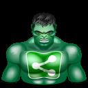 sharethis hulk icon