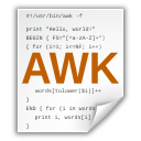 Application, Awk, x icon