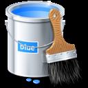 blue, design, bucket, color, paint icon