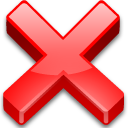 no, cross, delete, non, fermer, exit, none, remove, close, cancel icon