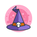 hat, halloween, witch, spooky, costume, magic, scary icon