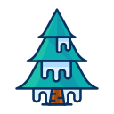 tree, snow, cold, forest, winter, ice icon
