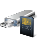 card, sd, micro sd, usb, stick, mobile memory card, usbflashcardwithcardreader icon