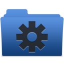 smooth navy blue smart icon