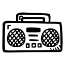 sound, boombox, music, party icon
