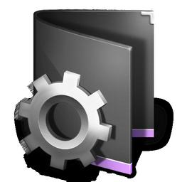 folder, smart, black icon