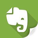 evernote, message, software, synchronize, documents, text icon