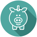 savings, cash, coins, saving account, piggy bank icon