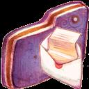 Folder, Mail, Violet icon