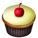 cherry,vanilla,cupcake icon