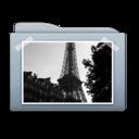 Folder Graphite Pictures icon