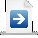 document, blue, paper, file icon