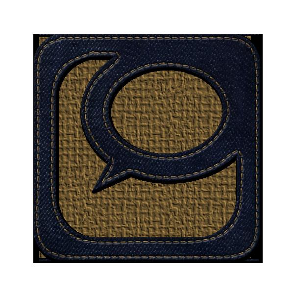 technorati, social, square, logo, jean, denim icon