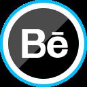 media, corporate, logo, behance, social icon