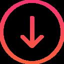arrow bottom icon