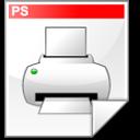 postscript, file, printer icon