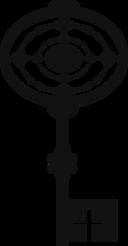 Oval key shape icon