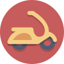 transportation, vespa, motorscooter, scooter icon